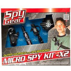 spy gadgets | Spy Gear - Wild Planet Micro Spy Kit X2