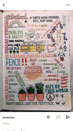 Easy Bullet Journal ideas to help you organize and accelerate your ambitious goals . - Easy Bullet Journal ideas to help you . Bullet Journal Notebook, Bullet Journal Inspiration, Notebook Doodles, Bullet Journals, Art Journals, Journal Pages, Journal Ideas, Journal Quotes, Doodle Art