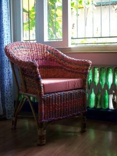 The Retyrement Plan: Upcycled fab from Anu Tandon Vieira Old Wood, Decorating Blogs, Tub Chair, Contemporary Design, Upcycle, Accent Chairs, Armchair, Recycling, Old Things