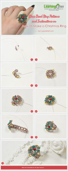 Glass-Bead-Ring-Patterns-and-Instructions-on How to Make a Christmas Ring