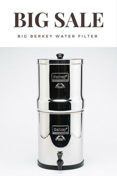 Our Top Selling Product is On Big Sale.  https://theberkey.com/products/big-berkey-water-filter?utm_source=Pinterest&utm_medium=banner&utm_term=berkey%20water%20filter&utm_content=Big%20Sale&utm_campaign=Big%20Sale%201    Big Berkey Water Filter is the world's finest and most cost effective personal water purification system available.  Berkey systems can easily purify ordinary tap water, or even raw, untreated water from remote lakes and streams.