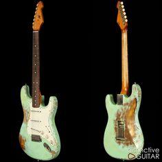 Rock n Roll Relics Blackmore Surf Green Over Sunburst Surf Guitar, Guitar Rig, Guitar Shop, Music Guitar, Gibson Guitars, Fender Guitars, 1962 Fender Stratocaster, Best Guitar Players, Surfing Pictures