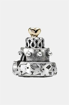 PANDORA Celebration Cake Charm (Pre-wedding gift + my first Pandora charm).  Thanks, @Nat Coburn