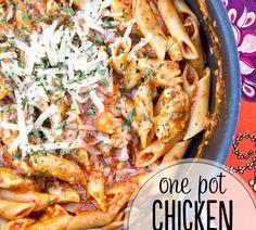 One Pot Chicken Spaghetti