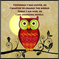 242 – Wise Owl Plaque   Sansaara Living Motivational Images, Inspirational Quotes, Wise Owl, Wall Plaques, Change The World, Wisdom Quotes, Indigo, Shapes, Instagram