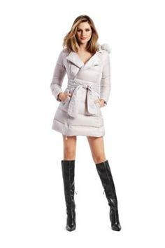Sonia Wrap Puffer Coat   GUESS.ca