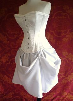White queen steel boned halloween corset outfit-whole corset outfit-made for buyer