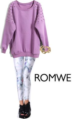 """new order from romwe ^_^"" by lavagrantbelle on Polyvore"