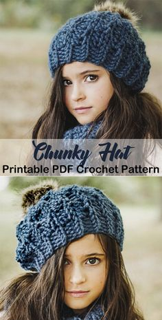 Make a Chunky Hat - Crochet kids hats - Crochet Kids Hats, Crochet Crafts, Crochet Clothes, Crocheted Hats, Crochet Shoes, Crochet Beanie Pattern, Crochet Jacket, Crochet Patterns, Crochet Ideas