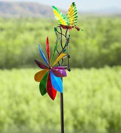 Flying Bird Whirligig Spinner | Decorative Garden Accents
