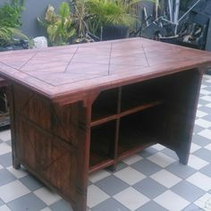 Customised Handmade Kitchen Island In Sungai Buloh Malaysia Made From Solid Wood