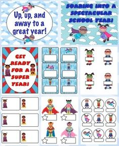 Multicultural Super Hero Classroom Theme Back to School Pack $