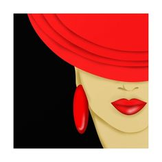 Art Print: Cappello Rosso by goccedicolore : Black Women Art, Woman Painting, Face Art, Fashion Sketches, Painting Inspiration, Fashion Art, Art Drawings, Illustration Art, Canvas Art