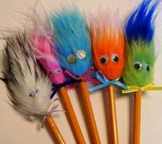Fuzzy head pencils
