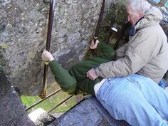 I have a photo exactly like this with me in it, kissing the Blarney stone in Ireland. Now where's my dettol antibacterial????