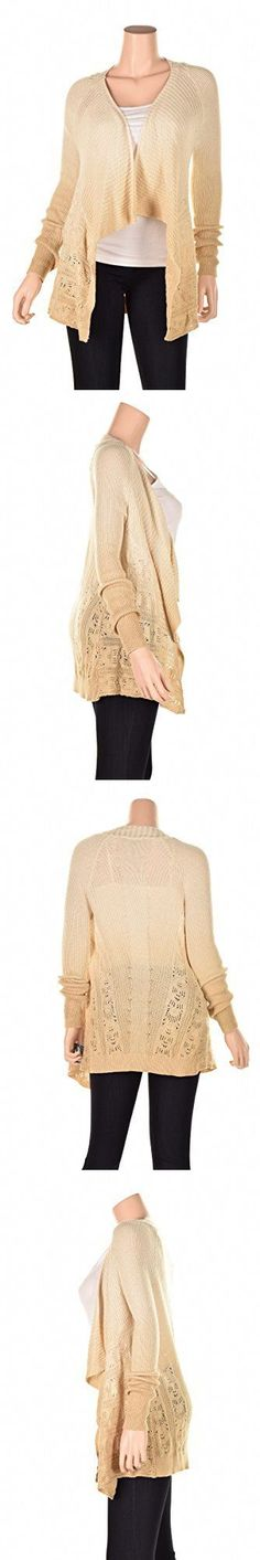 Sweaters 50993: Inc Womens Knit Ombre Cardigan Sweater Beige S Womens Cardigan Sweaters, New -> BUY IT NOW ONLY: $47.39 on eBay!