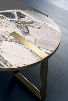 TABLE SELENE | Baxter metalfurniture #contemporaryfurniture #tablefurniture #furnituredesign #oceanstorm #lowtables #diningtables #interiordecorating #livingroom