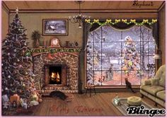 Do you dream of transforming your cocoon into a miniature Christmas village? We give you all the tips to choose the size of your Christmas tree according to the place you reserve for it, its price and its decorative look! Christmas Mood, Noel Christmas, Christmas Pictures, Vintage Christmas, Illustration Noel, Christmas Illustration, Beautiful Christmas Scenes, Christmas Paintings, Belle Photo