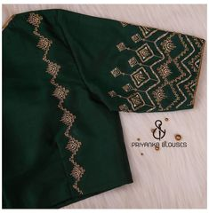 Hand Work Blouse Design, Simple Blouse Designs, Stylish Blouse Design, Fancy Blouse Designs, Blouse Neck Designs, Blouse Patterns, Saree Blouse, Zardosi Work Blouse, Peacock