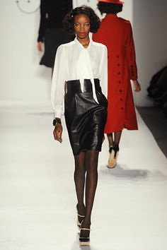totally wearable leather pencil skirt at Ruffian RTW Fall 2012