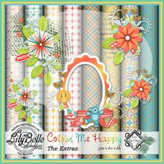 COLOUR ME HAPPY - THE EXTRAS - FREE when you participate in the Calendar Challenge at Ivy Scraps June 1 - 30th, 2014.