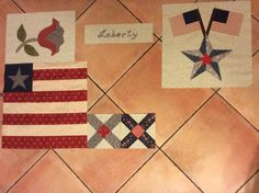 Yankee Diary, top half finished: blocks 1 to 4.