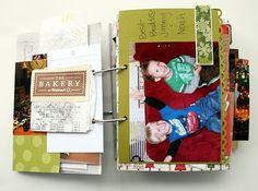The Creative Place: Finishing Up: Christmas Mini Album / Journal
