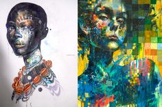 Minjae Lee is a young South Korean artist whose work expresses a semi-disturbing inner tension that is tough to ignore, even if you feel that you'd like to. It draws you in with its powerful colors, halting imagery and clever juxtaposition of beauty, innocence and fragility with brash, loud and aggressive. The 19-year old artist is mainly self-taught and uses old-fashion tools to create his illustrations - markers, pens, crayons, and acrylics.