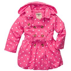 Polka Dot Trench Coat | Baby Girl Jackets & Outerwear