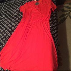 ASOS Curve dress brand new with tags Beautiful orange colored ASOS dress below knees... (I'm 5'8)... Never worn ASOS Dresses Midi