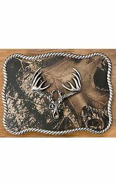 M&F Western Products® Camouflage w/ Silver Deer Skull Rectangle Buckle | Cavender's