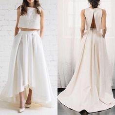 47fcb9a0862aa ウエディングドレス 二次会ドレス 花嫁 セパレートドレス ツーピースドレス