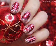 Je vous présente un Nail Art Merry Christmas réalisé à l'occasion de Noël 2013 pour la Battle Nail Art Talent.