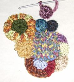 5. make some Domes & Popcorns & attach to patch