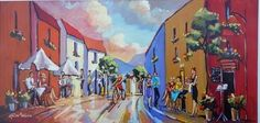 Street And Dining Scene - Gericke Anton Upcoming Artists, South African Artists, Pretoria, Anton, Art Gallery, Scene, Passion, Contemporary, Dining