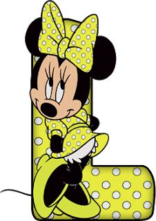 Abecedario de Minnie con Letras Verde Limón y Lunares Blancos.  Minnie Alphabet with Green Lemon Letters and White Dots. Rugrats, Candyland, Piglet, Letter I, Mickey And Friends, Mickey Minnie Mouse, Mouse Parties, Disney Fun, Wallpaper Downloads