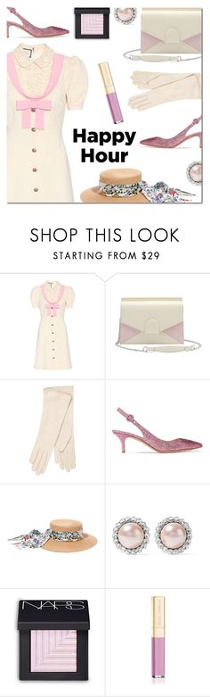 """Bottoms Up: Happy Hour"" by danielle-487 ❤ liked on Polyvore featuring Gucci, dafné, Gianvito Rossi, Miu Miu, NARS Cosmetics, Dolce&Gabbana and happyhour"