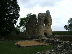 All that remains of Ludgershall Castle, once owned by William Marshal's father, John.  William would have visited this as a child.