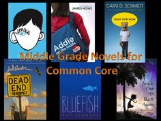 Novels to Know: Middle School Edition - As part of our preparation for Common Core standards our district asked the librarians to put together a list of noteworthy novels that would help meet the higher standards for text complexity and reading level. My two middle grade partners, Monique German and Kristen Hearne, and I will be putting together the list for our level.