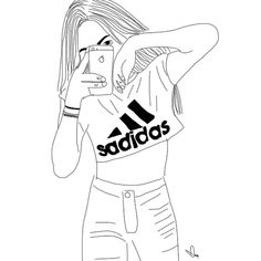 easy black and white drawings Tumblr Girl Drawing, Tumblr Sketches, Tumblr Art, Art Drawings Sketches, Easy Drawings, Girl Drawings, Drawing Girls, Tumblr Outline Drawings, Drawing Drawing