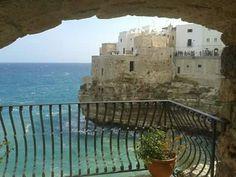 """Vista dall'Hotel """"Covo dei Saraceni"""", Polignano a Mare, Puglia"""