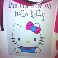Hello Kitty birthday game. I used a projector to trace the words and HK.  The clothing is layered scrap booking paper and card stock.