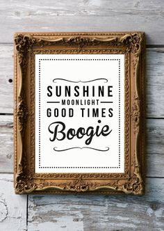 Retro Inspirational Quote Giclee Art Print - Vintage Typography Decor - Customize - Blame it on Boogie UK $21.09