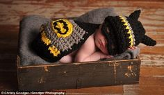 Tiny #Batman knitted or crocheted costume?