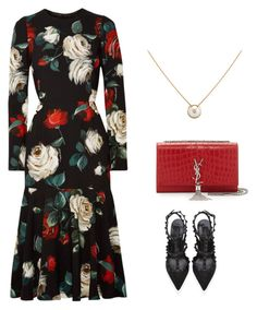"""""""Untitled #383"""" by shathaalawwad ❤ liked on Polyvore featuring Dolce&Gabbana, Yves Saint Laurent, Valentino and Giallo"""