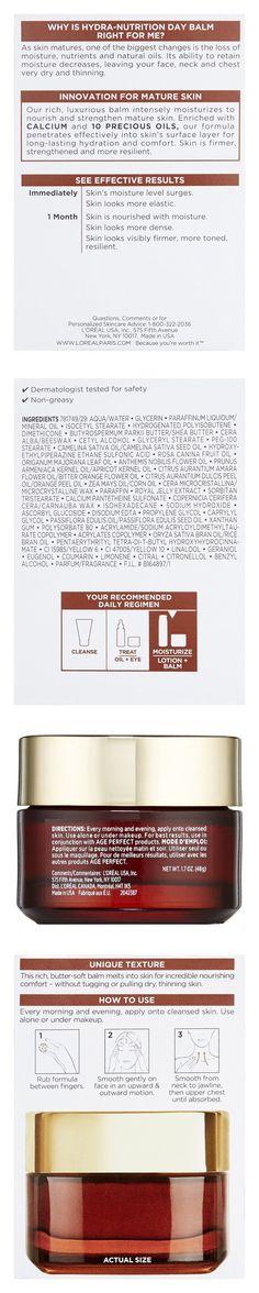 L'Oreal Paris Age Perfect Hydra-Nutrition Golden Balm Face, Neck & Chest #beauty #lorealparis