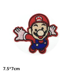 New to craftapplique on Etsy: Super Marie  patch super mario Embroidery patches patch Embroidered patch iron on patch sew on patch 7.57cm  A71 (2.30 USD)