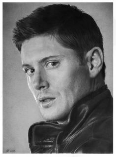 Ultra-realistic Dean Winchester drawing