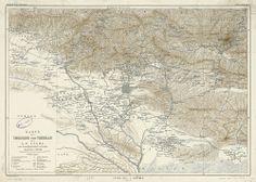 (5)  نقشه طهران و حومه دوران مظفرالدین شاه قاجار خالق اثر : الکساندر فردریش- تاریخ خلق: 1900 میلادی