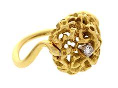 Gilbert Albert 18K Yellow Gold & Diamond Ring